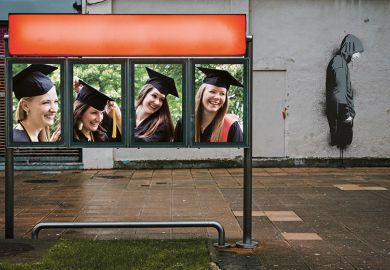 female graduates man turning away
