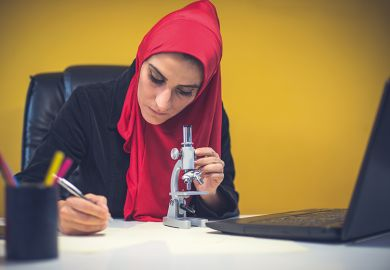 Female Muslim scientist