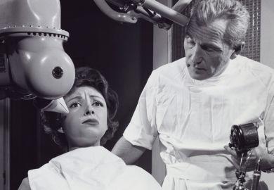 Female patient at dentist