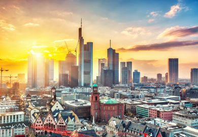 Frankfurt, one of Germany's most expensive cities