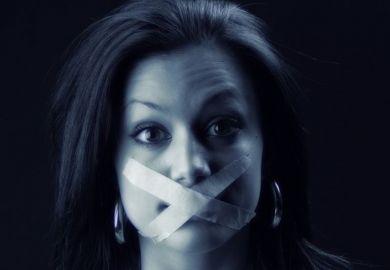 Indian woman gagged