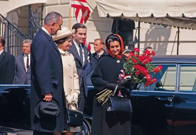 Lyndon B. Johnson and Indira Gandhi
