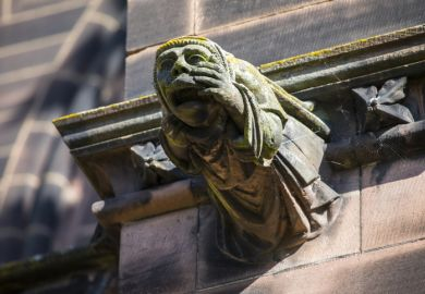 A gargoyle at Chester cathedral, symbolising church control of universities