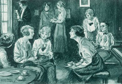 Young women at Somerville in the early 20th century were both part of and apart from the university