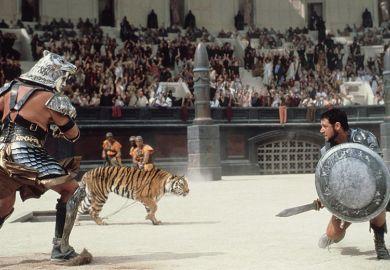 Gladiator scene