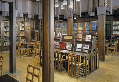 Glasgow School of Art library, Scotland, architect Charles Rennie Mackintosh