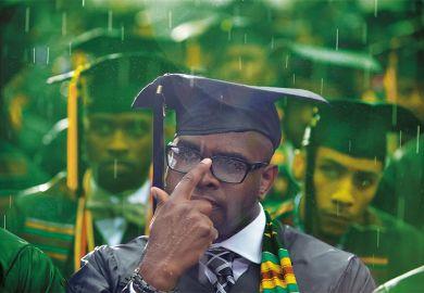 Graduate in the rain
