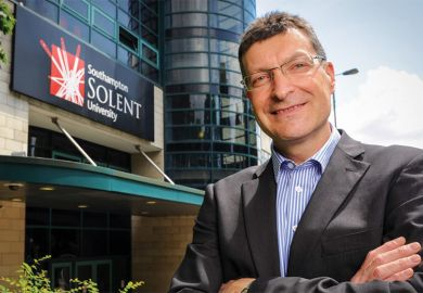 Graham Baldwin, vice-chancellor of Southampton Solent University