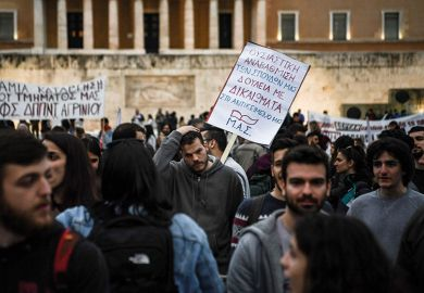 Greek student protest