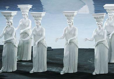 caryatids Greek statues