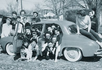 Sorority sisters pack into tiny Renault