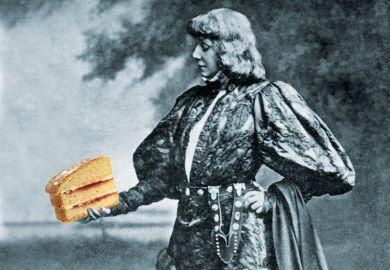 Hamlet holding cake