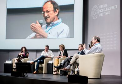 Harold Varmus speaks at the Lindau Nobel Laureate Meeting
