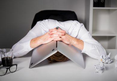 Head under computer