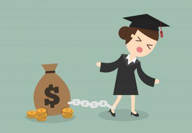 Student dragging debt