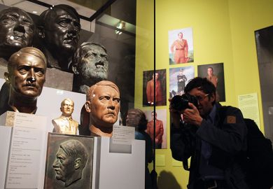 Busts of Adolf Hitler in the 'Hitler and the Germans Nation and Crime' exhibition in Berlin