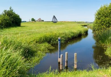 A water level gauge, Netherlands