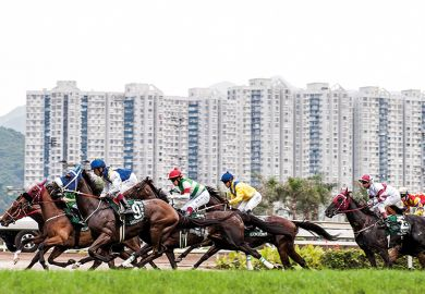 A horse race in Hong Kong