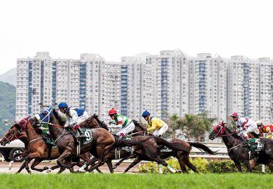 A horse race in Hong Kong