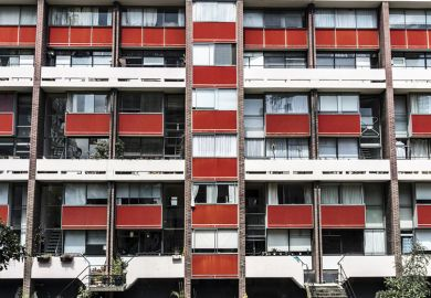 Block of Flats on Golden Lane Estate in London