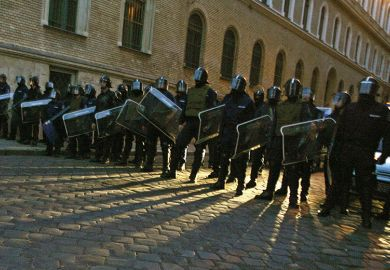 hungary riot police