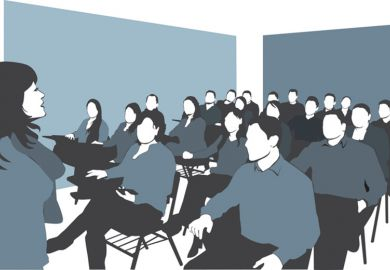 Illustration of a university seminar