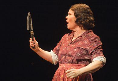 Imelda Staunton as Mrs Lovett, Sweeney Todd, Adelphi Theatre, London