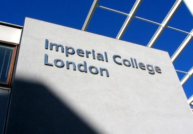 Imperial College London campus building sign