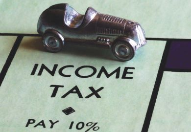 Income tax space on a Monopoly board