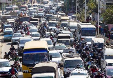India traffic jam