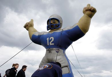 Inflatable American football player