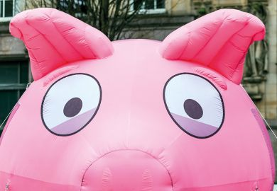 Inflatable piggy bank