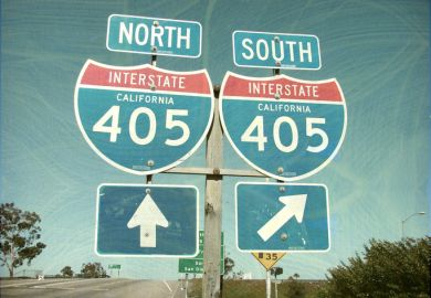 Interstate sign