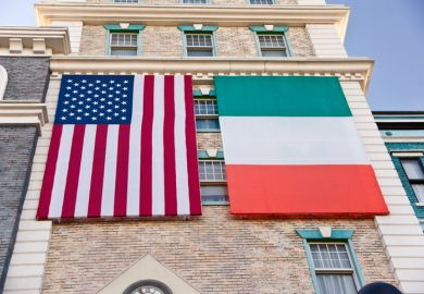 Irish and US flags
