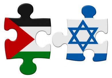 Israel and Palestine conflict flag puzzle