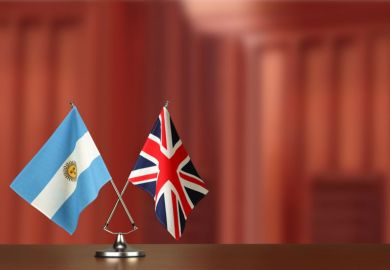 Argentina UK flags