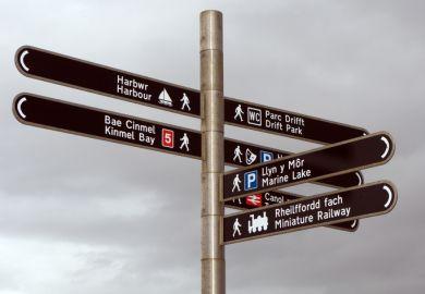 Welsh language signs