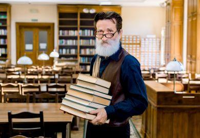 Older university lecturer