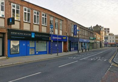 Closed high street shops