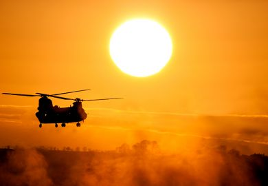 Chinook at sunset