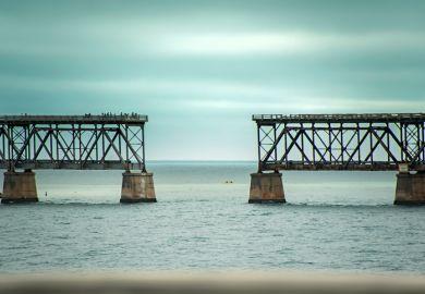 bridge, broken, coooperation