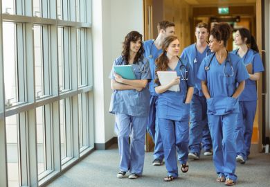 Medical admissions at university.