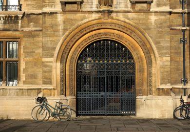 Cambridge college gate