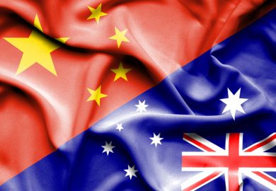 China, Australia flags