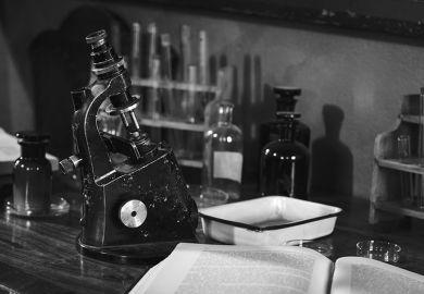 Antique microscope