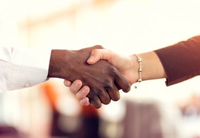 Shaking hands with your PhD supervisor. We provide tips from experts on how to approach and make a good impression with a potential PhD supervisor.