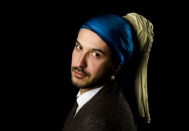 Man with a pearl earring