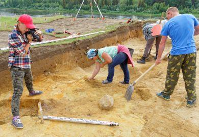 An archaeological dig