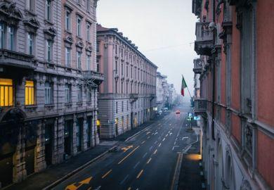 empty European street