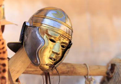 A Roman gladiator mask